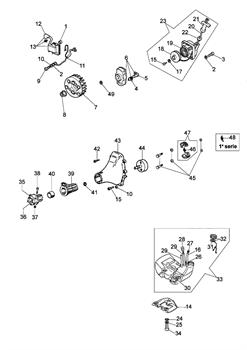 Катушка зажигания триммера Oleo-Mac 725D (рис. 13)