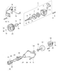 Барабан сцепления триммера Oleo-Mac Sparta 44 (рис. 31) - фото 12192