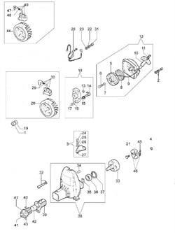 Барабан сцепления триммера Oleo-Mac 753Т (рис. 33) - фото 12256