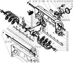 Переходник вал редуктора-шкив снегоуборщика Champion ST 1086 BS (рис.А56)