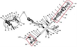 Амортизатор втулки вала штанги триммера CHAMPION T 256 (рис.19) - фото 12348