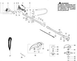 Нижняя часть штанги триммера Partner T330 PRO (рис. 24)