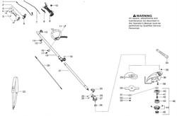Верхняя часть штанги триммера Partner BC 433L (рис. 18)