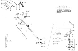 Редуктор триммера Partner BC 433L (рис. 26)
