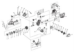 Двигатель в сборе триммера Ryobi RBC 430 SES (рис. 16)