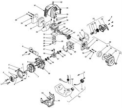Топливный бак в сборе триммера Stiga SB 420D (рис. 11) - фото 13142