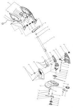 Защитный кожух триммера Sturm GT 3550L (рис. 43)