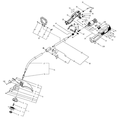 Верхняя штанга в сборе триммера Sturm GT3508U (рис. 18) - фото 13540
