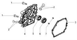 Фланец культиватора Efco MZ 2050 R - MZ 2050 RX (рис. 4)