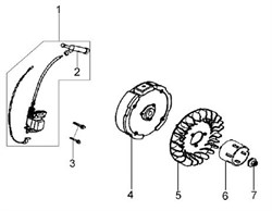 Крыльчатка культиватора Efco MZ 2050 R - MZ 2050 RX (рис. 5)