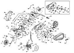 Левая фреза культиватора Efco MZ 2050 R - MZ 2050 RX (рис. 16)