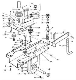 Кронштейн натяжного ролика культиватора Al-ko MH 5001 R (рис. 48) - фото 14172