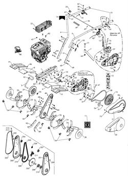 Ремень реверса культиватора Caiman Compact 40 MC (рис. 38)