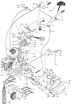 Ремень культиватора Caiman QJ 60S TWK+ (рис. 64)