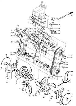 Внутренняя левая фреза культиватора Caiman QJ 60S TWK+ (рис. 67)