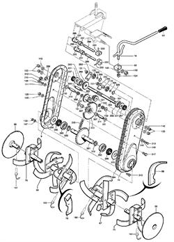 Внутренняя правая фреза культиватора Caiman QJ 60S TWK+ (рис. 68)