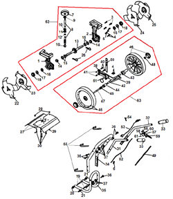 Левая втулка колеса культиватора Champion GC 243 (рис. 43) - фото 14605