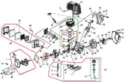 Топливный бак в сборе культиватора Champion GC243 (рис. 62)