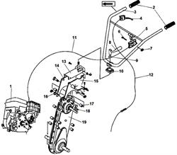 Двигатель культиватора Champion BC 8713 (рис. 1)