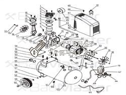 Статор  компрессора BAUMASTER AC-9424LX-26