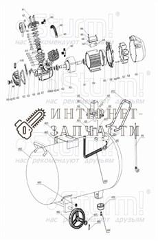Фильтр воздушный (сталь, бум картридж, D, M, /'') компрессора Sturm AC93104.v2.1-3