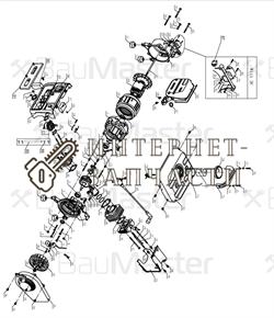 Прокладка глушителя генератора BauMaster PG-8709X-67
