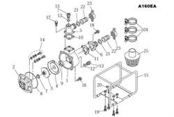 Кольцо уплотнительное мотопомпы Hitachi A160EA (рис. 21)