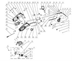 Корпус редуктора триммера Энкор ТЭ-1000/38 (рис.20) - фото 18699