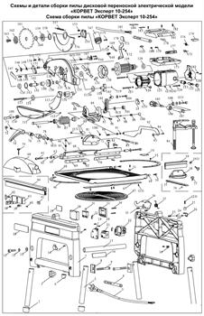 Накладка cтанка пильного-универсального Корвет Эксперт 10-254 (рис.171) - фото 19965