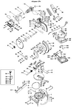 Блокиратор пилы торцовочно - усовочной Корвет 3Р (рис.93) - фото 20240