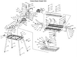 Блок крепления насоса плиткореза Энкор Корвет 464 (20464) (рис.83)