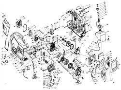 Корпус генератора правая половина 21220-B001-0000 генератора инверторного типа Elitech БИГ 1000  (рис.26) - фото 21602