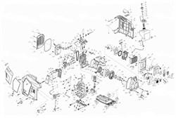 Крышка ручки стартера ручного генератора инверторного типа Elitech БИГ 2000  (рис.187) - фото 21966