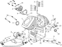 крышка ГРМ \ COVER COMP.,BREATHER бензогенератора Elitech БЭС 12000 Е (рис.2)