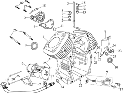 электростартер \ STARTER MOTOR бензогенератора Elitech БЭС 12000 Е (рис.6)