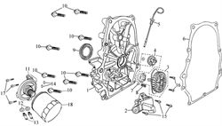 прокладка крышки картера \ PACKING,CASE COVER бензогенератора Elitech БЭС 12000 Е (рис.6)