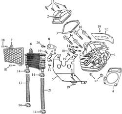 прокладка головки цилиндра \ GASKET,CYLINDER HEAD бензогенератора Elitech БЭС 12000 Е (рис.4)