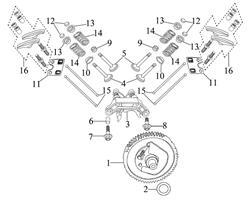 опора коромысла \ ROCKER SUPPORT SEAT бензогенератора Elitech БЭС 12000 Е (рис.3)