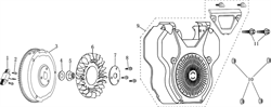 Катушка зарядки аккумулятора \ COIL ASSY.,CHARGE бензогенератора Elitech БЭС 12000 Е (рис.1)