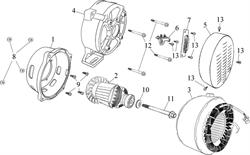 крышка генератора(лицевая) \ COVER,GENERATOR FRONT бензогенератора Elitech БЭС 12000 Е (рис.1)