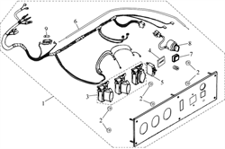 розетка \ SOCKET бензогенератора Elitech БЭС 12000 Е (рис.3) - фото 22184
