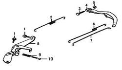 пружина (А) кронштейна управления дроссельной заслонкой бензогенератора Elitech БЭС 1800 (рис.2) - фото 22215