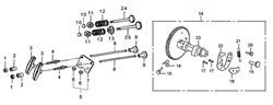 блок направляющей планки бензогенератора Elitech БЭС 2500 (рис.6) - фото 22538