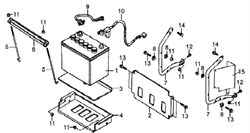 боковая пластина бензогенератора Elitech БЭС 2500 (рис.2) - фото 22669