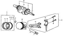 комплект поршневых колец бензогенератора Elitech БЭС 2500 (рис.1) - фото 22683