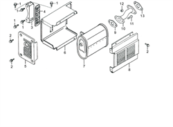 Комплект защиты после глушителя бензогенератора Elitech БЭС 2500 Р (рис.8) - фото 22793