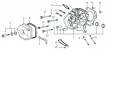 Головка цилиндра в комплекте бензогенератора Elitech БЭС 2500 Р (рис.1) - фото 22799
