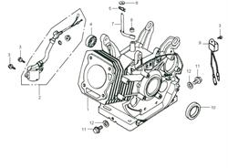 аварийный выкл. зажигания по уровню масла в сборе бензогенератора Elitech БЭС 2500 Р (рис.2) - фото 22816