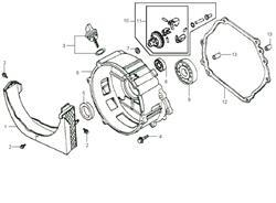 Щуп масляный с прокладкой в комплекте бензогенератора Elitech БЭС 2500 Р (рис.3) - фото 22870