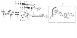стопорная гайка втулки карамысла бензогенератора Elitech БЭС 2500 Р (рис.1) - фото 22881